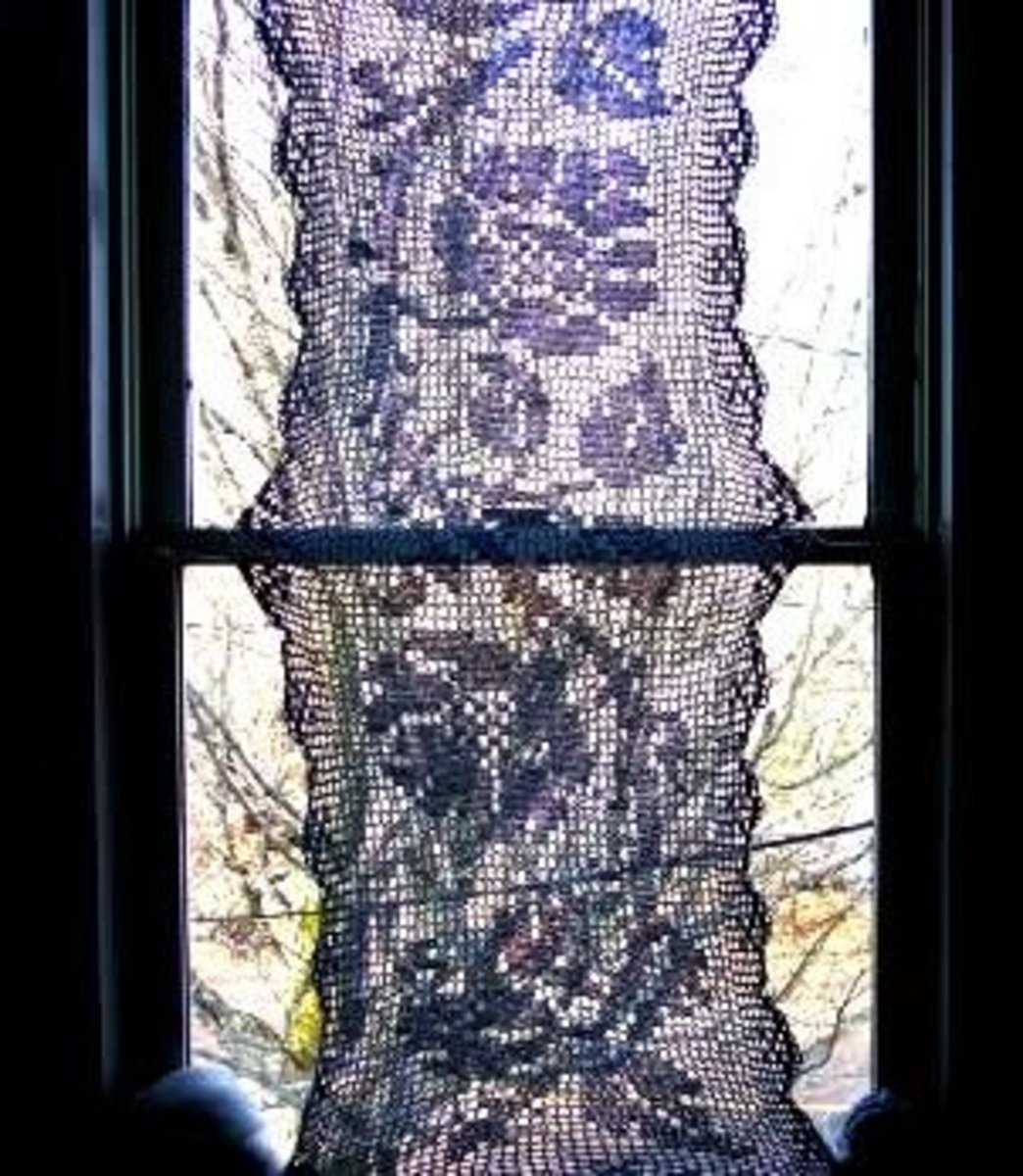 Window Hanging Worked in Heavier Crochet Cotton