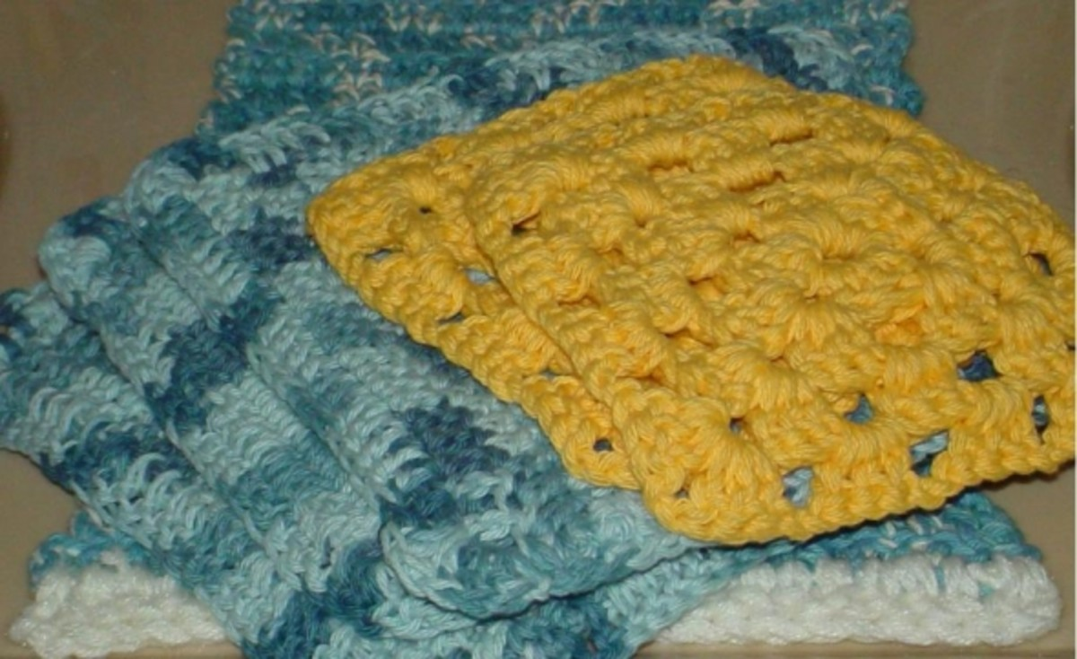 Granny square washcloths for beginners