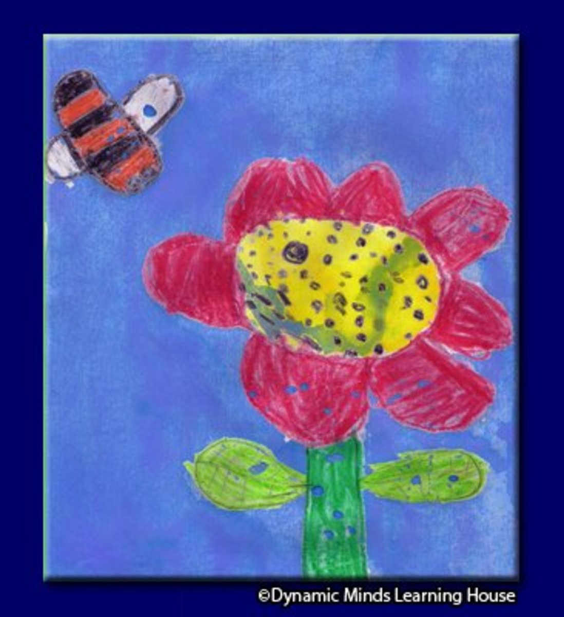 This drawing was made by one of our students, Jameishka Mulchandani, age 6