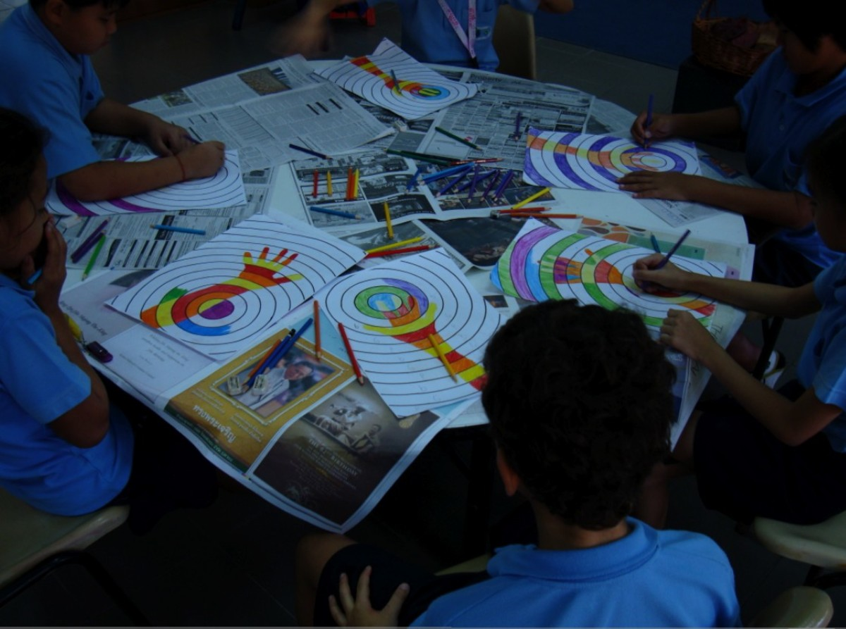A variation on this project is to use Colored Pencils with older students.