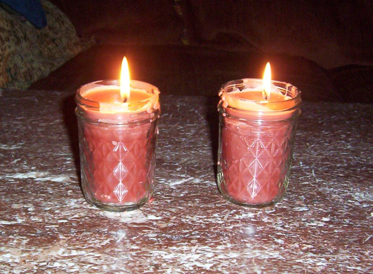 Candles - Make A New Candle From Left Over Candle Stubs