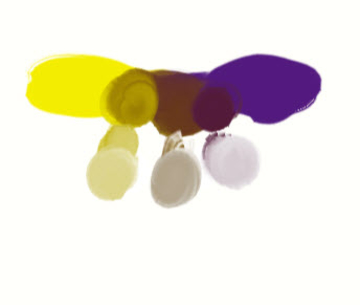 Yellow and Violet to Make Gray and Brown