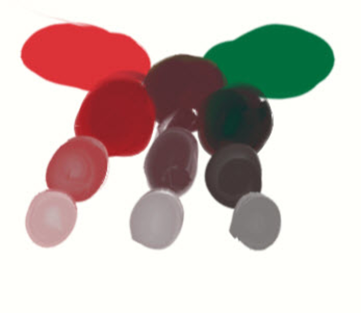 Red and Green to Make Gray and Brown