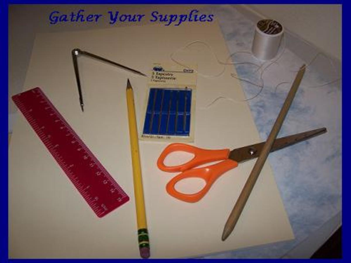 Gather all of your supplies before you begin.