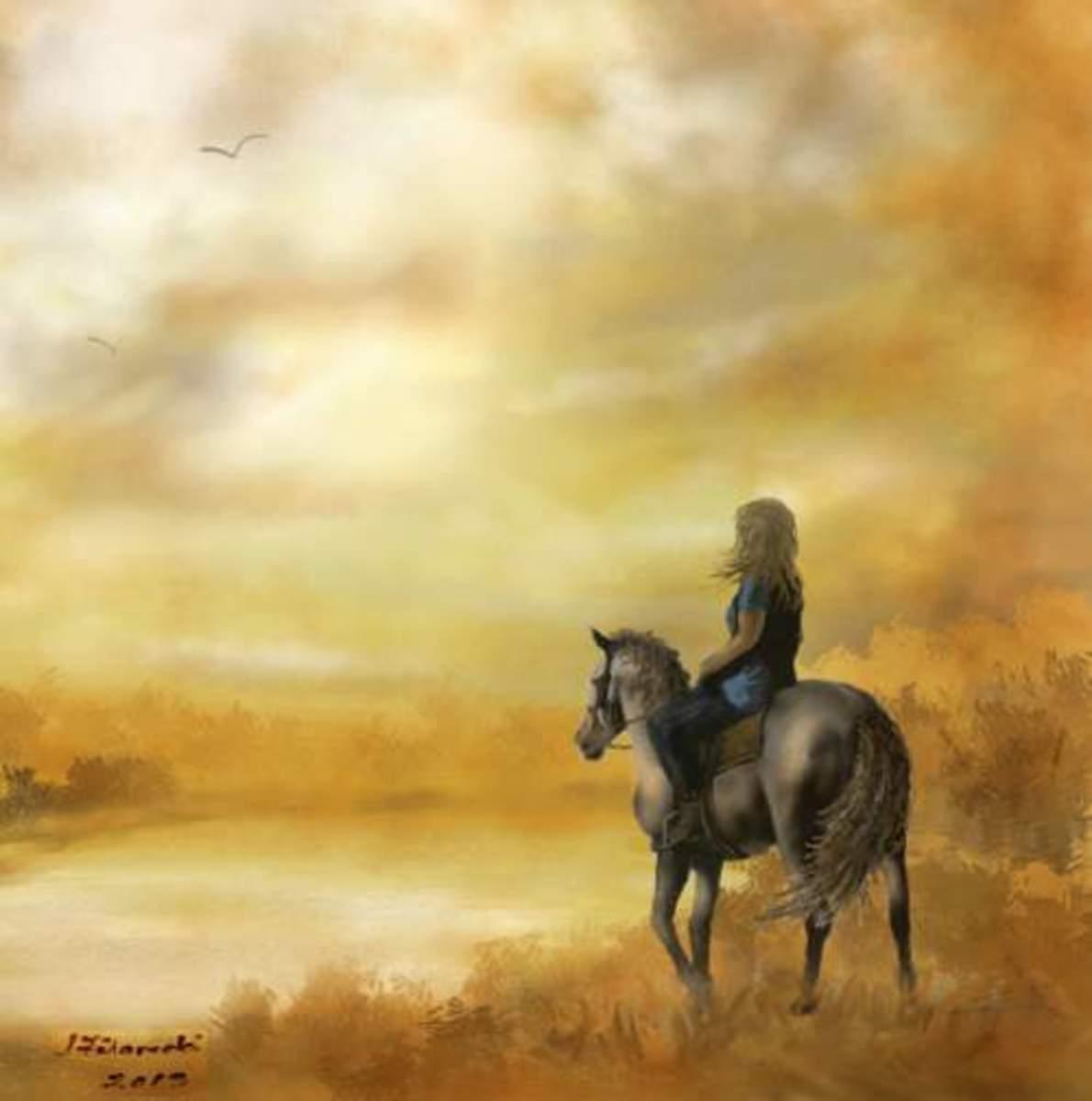 Misty Morning Horseback Ride