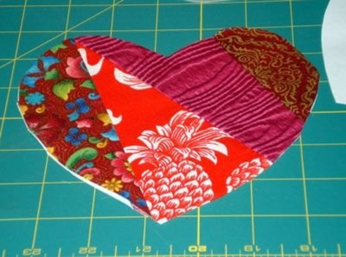 You can applique the heart to any other fabric to make a pretty block for a heart quilt.