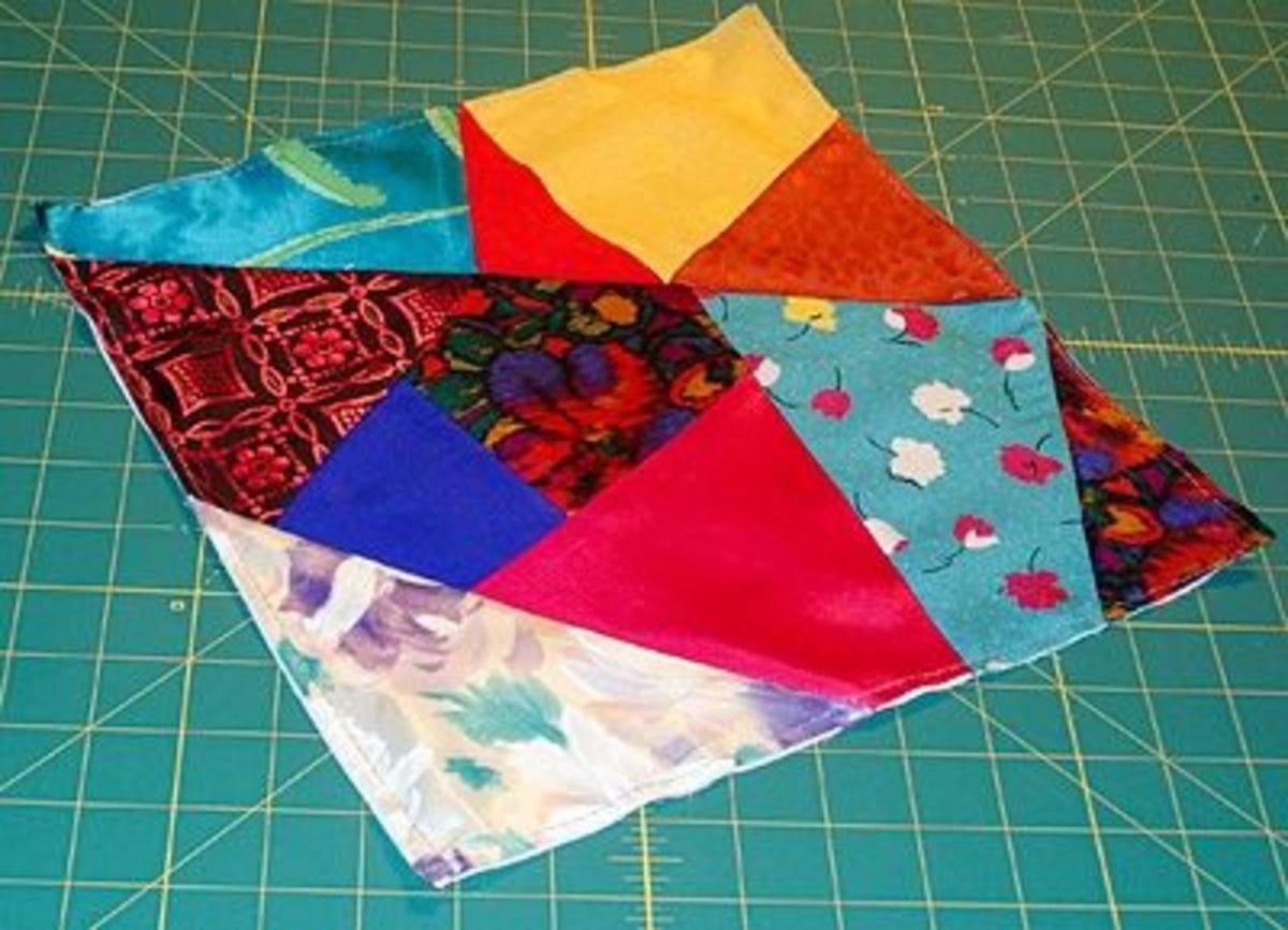 Straight stitch around the edge to stabilise the block until you have decorated it.
