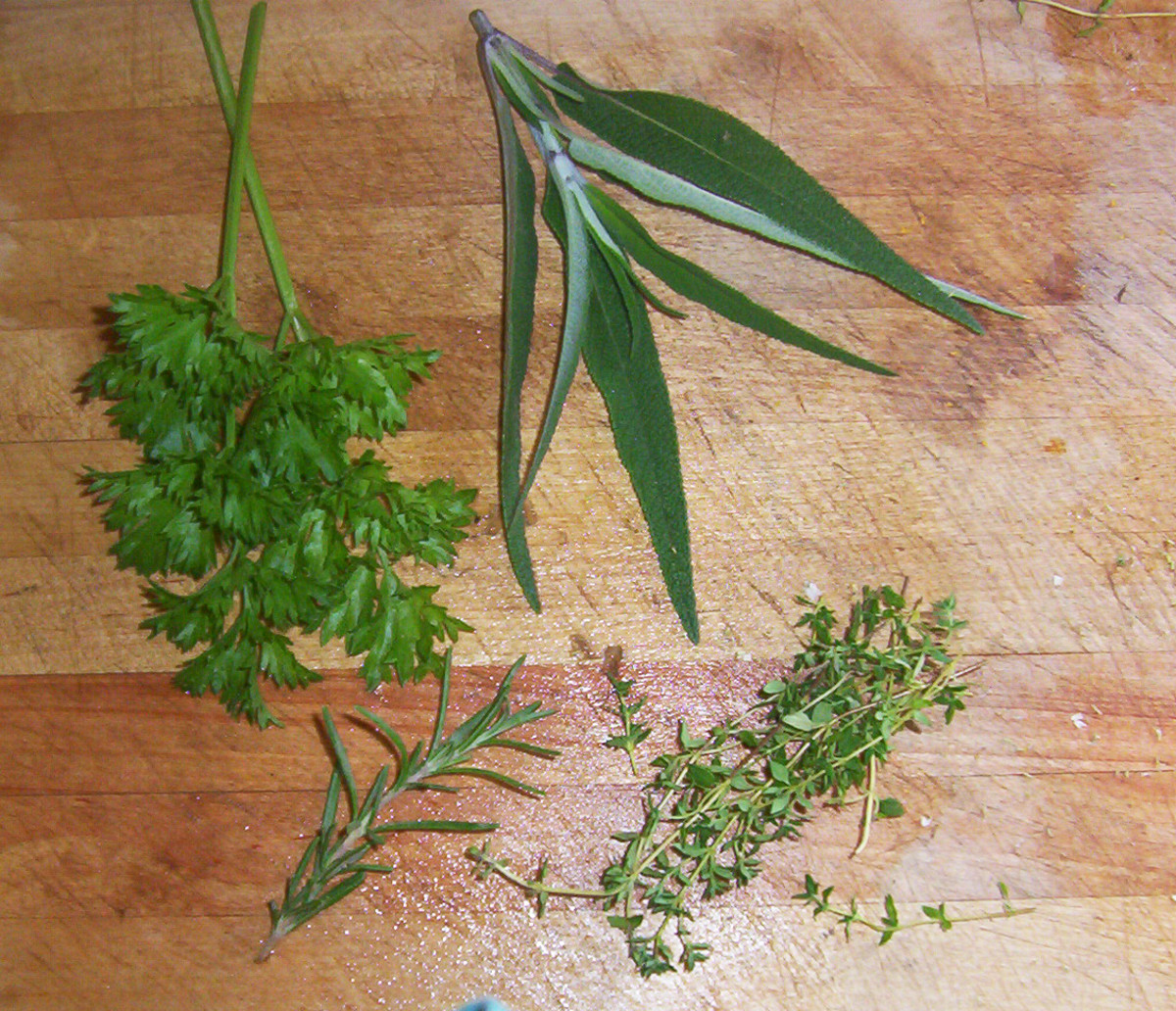 Herbs - parsley, sage, rosemary, and thyme