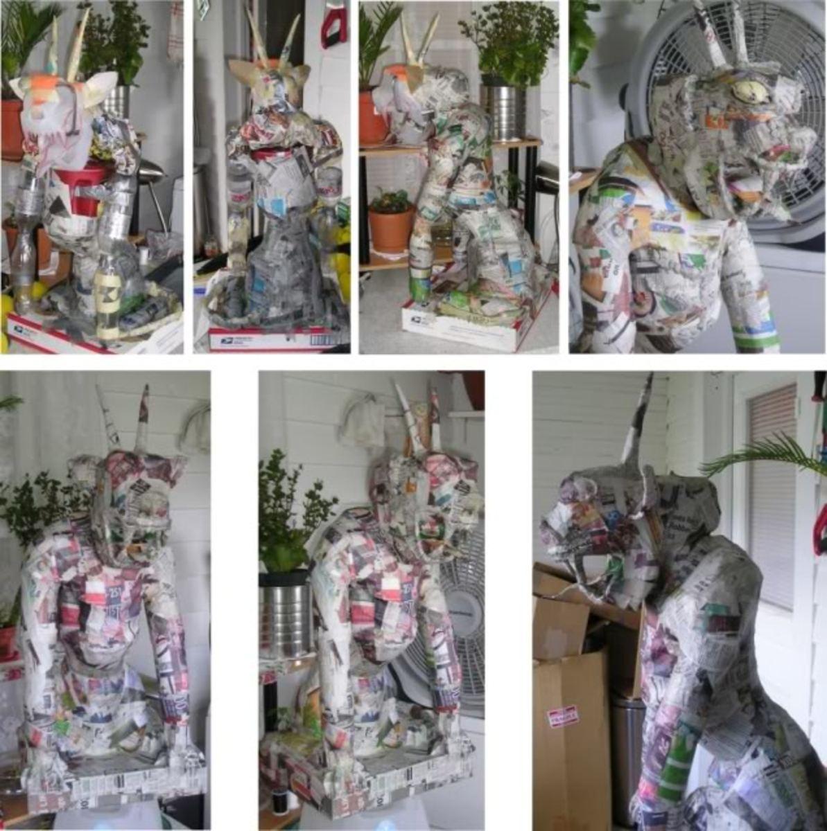 Make a Paper Mache Statue | FeltMagnet