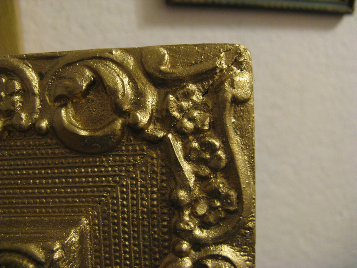 How To Repair A Gilded Plaster Picture Frame Feltmagnet