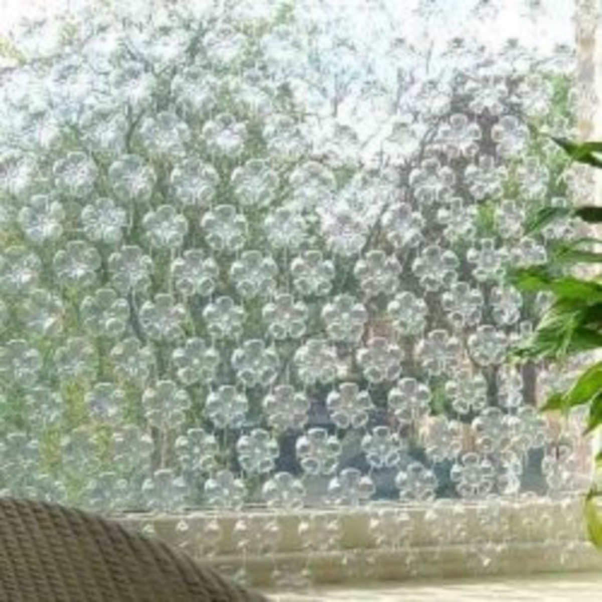 Plastic Bottles Reused as a Privacy Screen