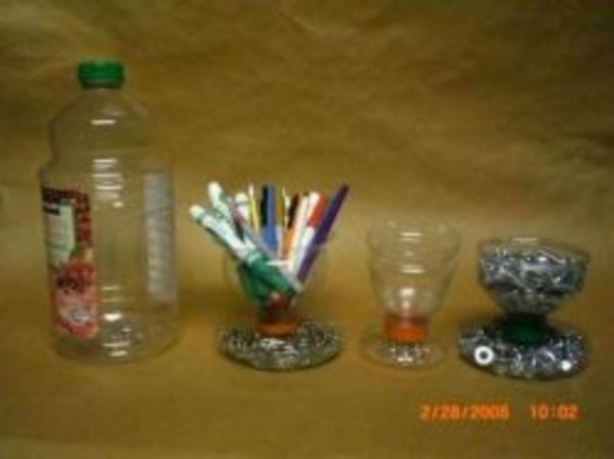 Reuse a Plastic Bottle as a Pen Holder