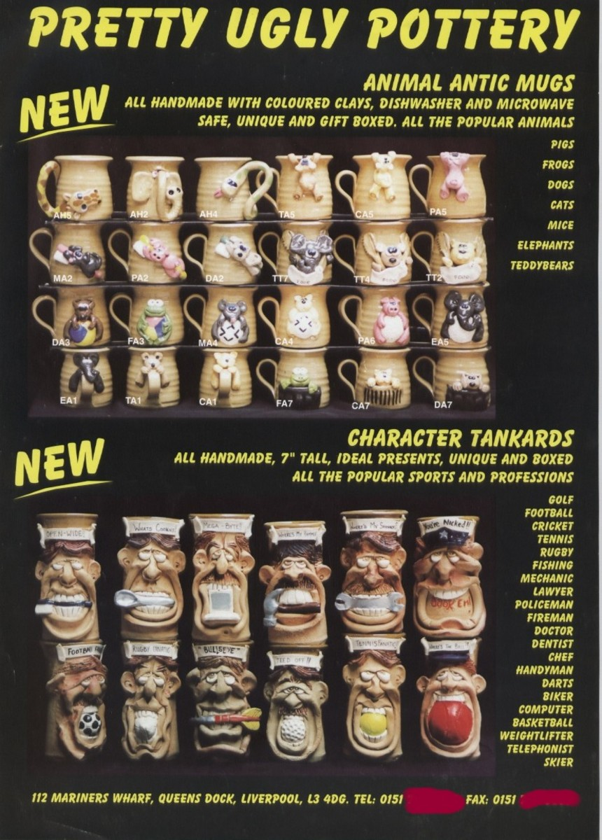 All the above images are from Pretty Ugly Pottery's leaflets - and are probably collectibles  themselves now.