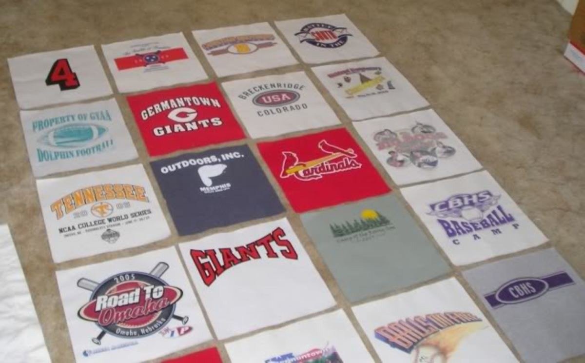T-Shirt Quilt Design Layout
