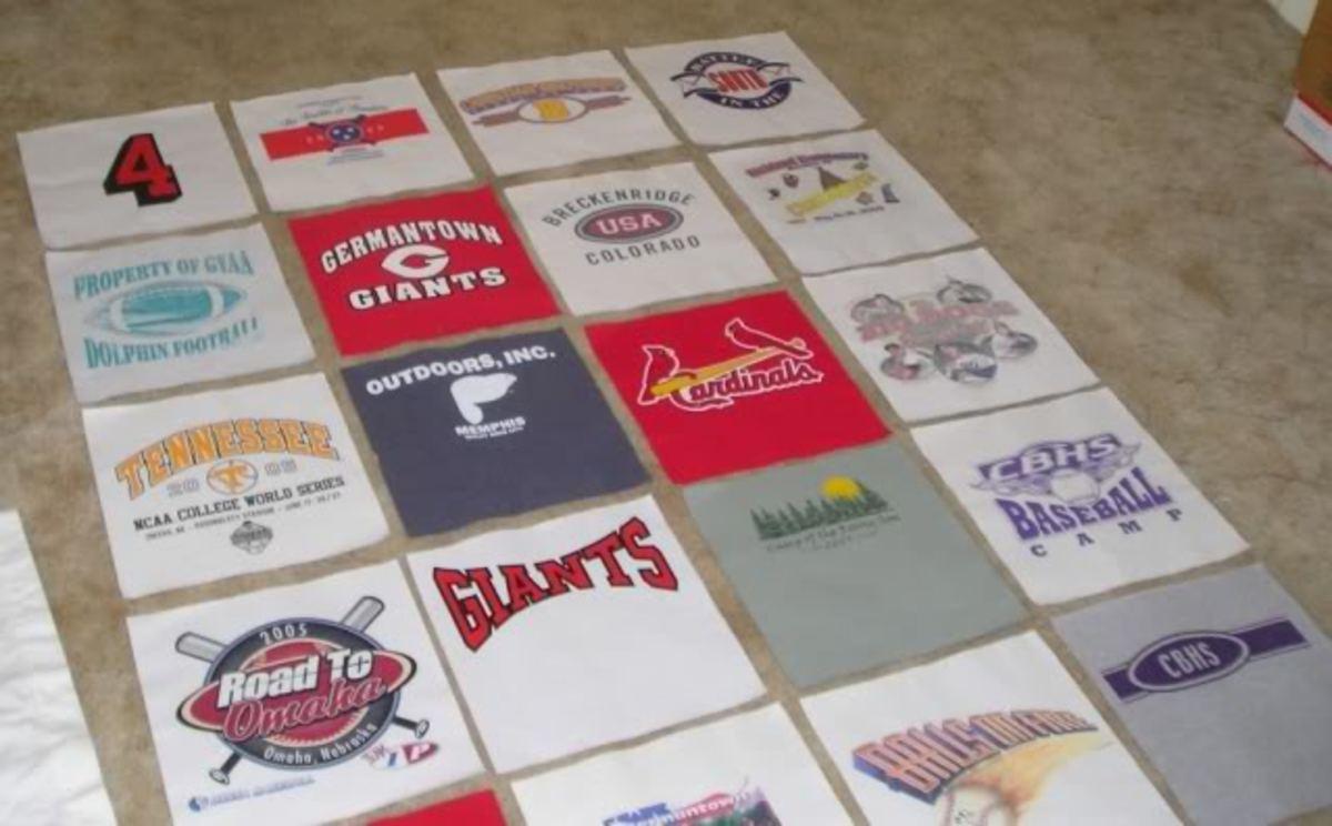 T-Shirt Quilt Design Layout