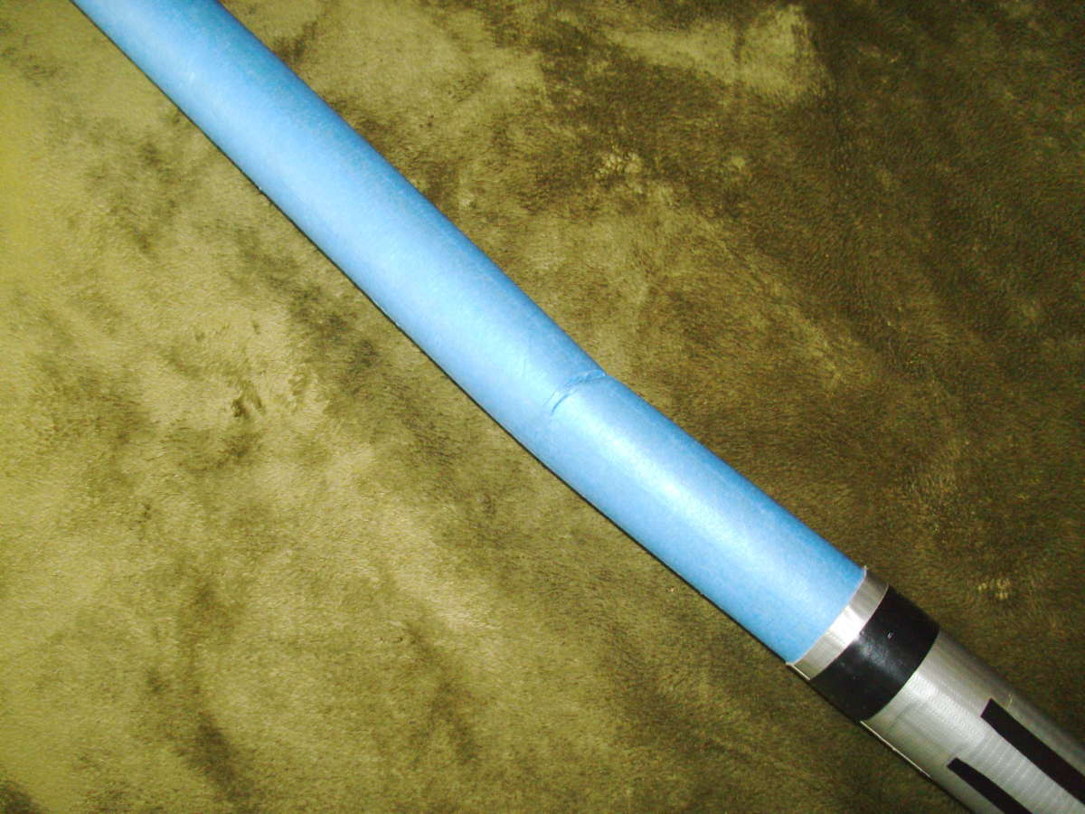 Lightsaber...with authentic battle damage! This is what a broken DIY lightsaber looks like.