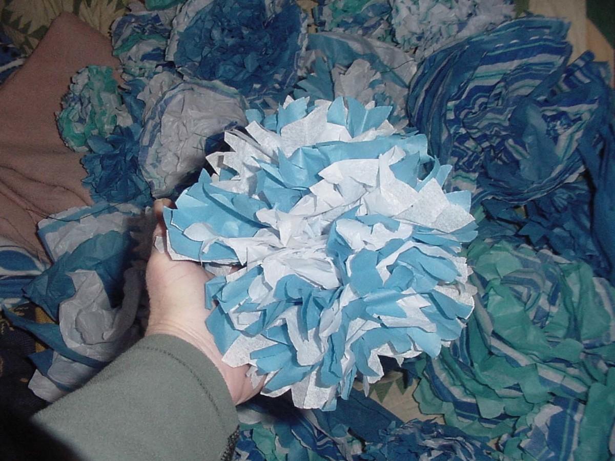 Tissue Paper Flower - Done!