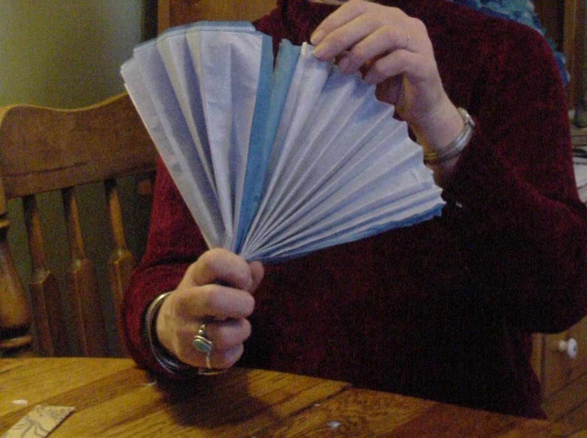 Tissue Paper Flowers - Fold in Half Like a Fan