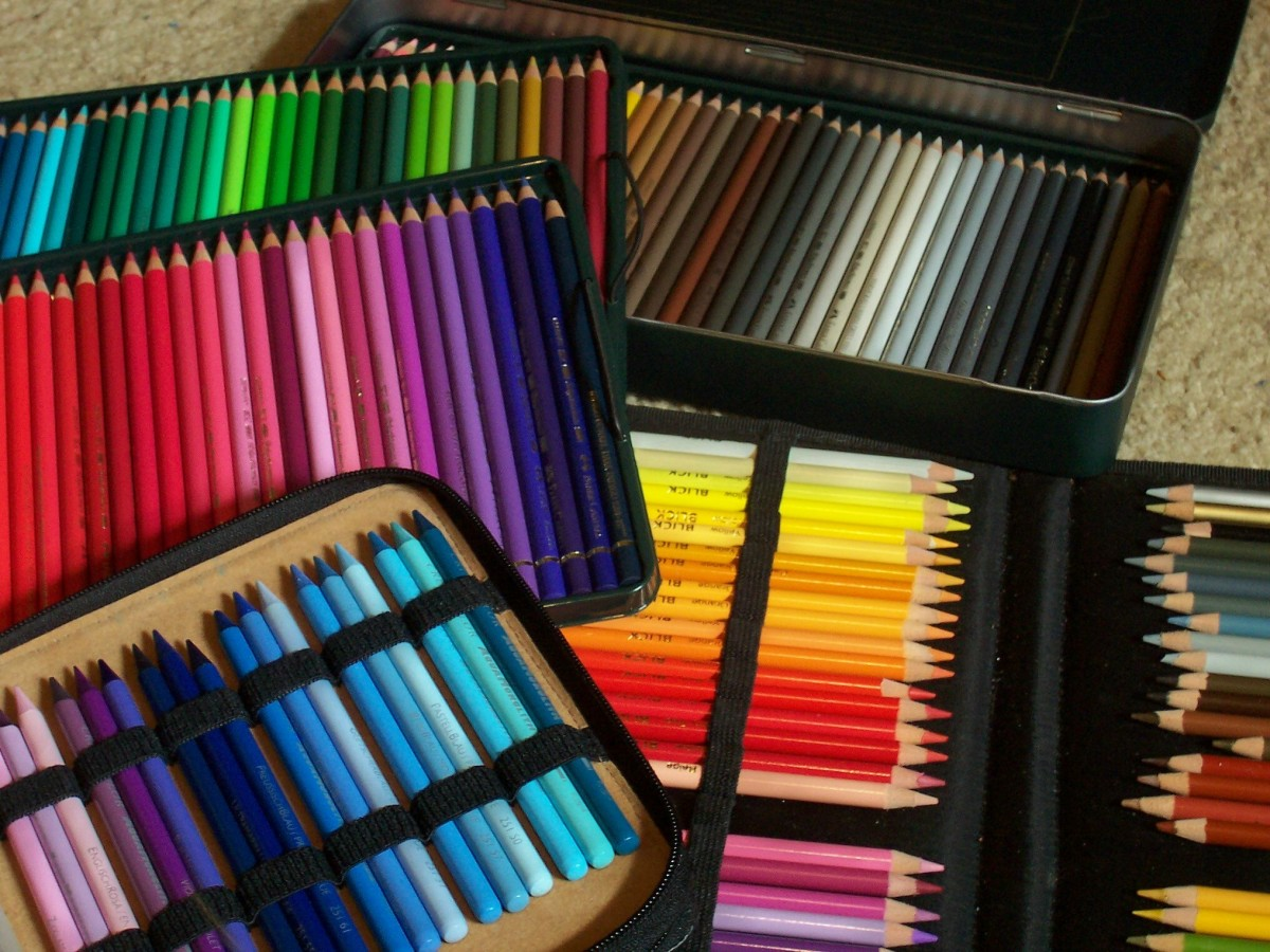 Colored pencils display photo copyright 2007 by Robert A. Sloan, all rights reserved.