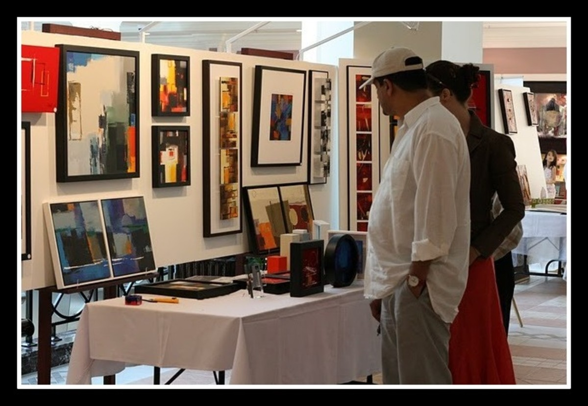 Check out prices of other similar work at art fairs and exhibitions.