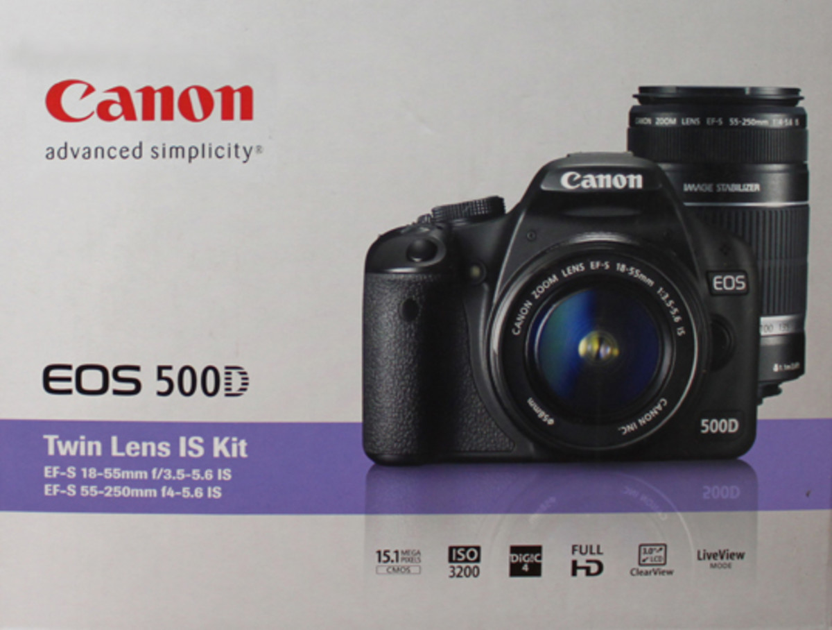 Canon EOS 500D DSLR Camera