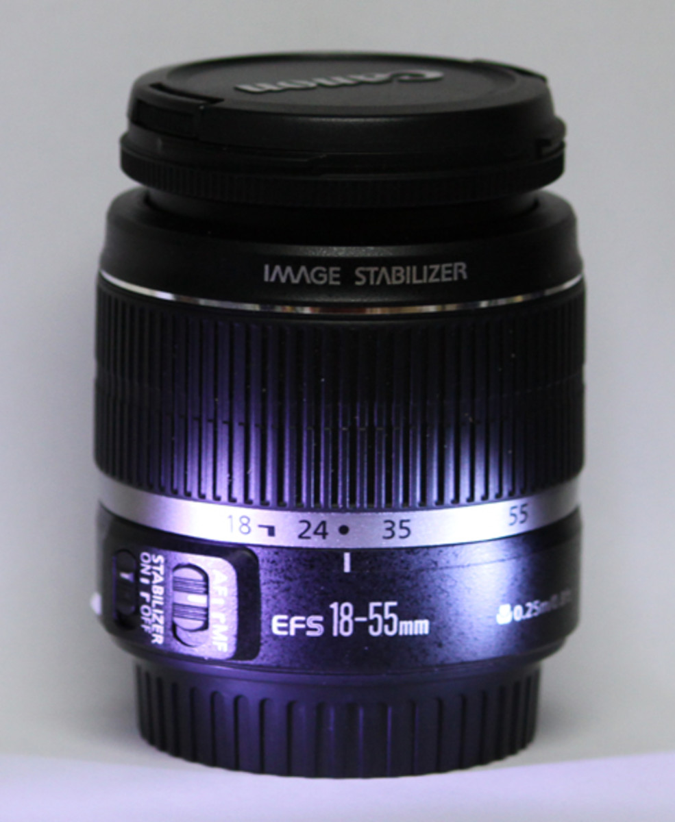 Standard lens in the kit is the Zoom lens 18-55mm