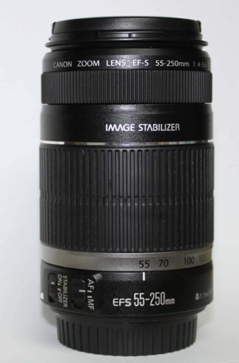 Standard in the Kit is the Zoom lens 55-250mm
