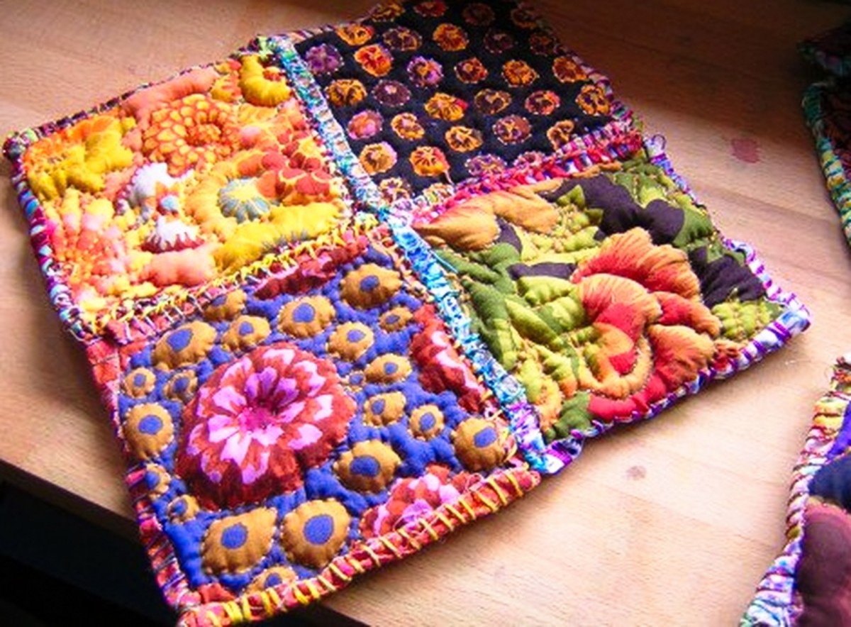 Sew pillows together in panels