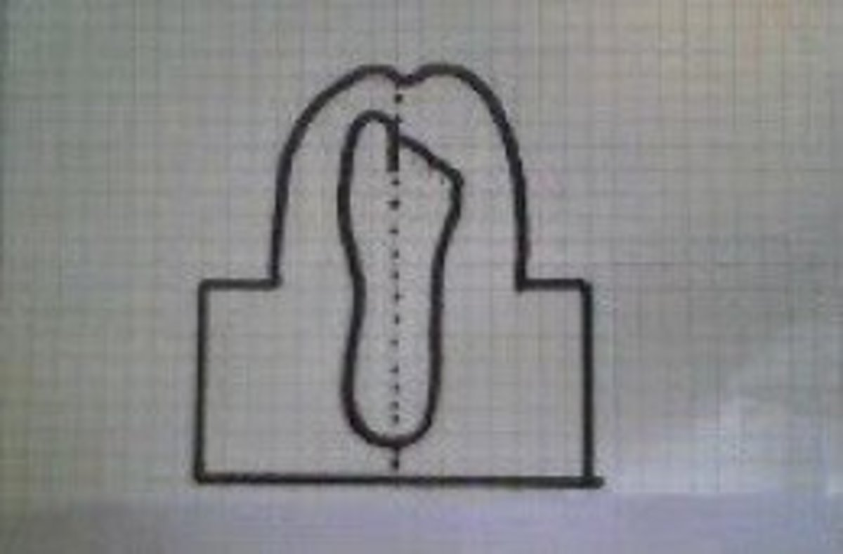 Pattern for center seam moccasin