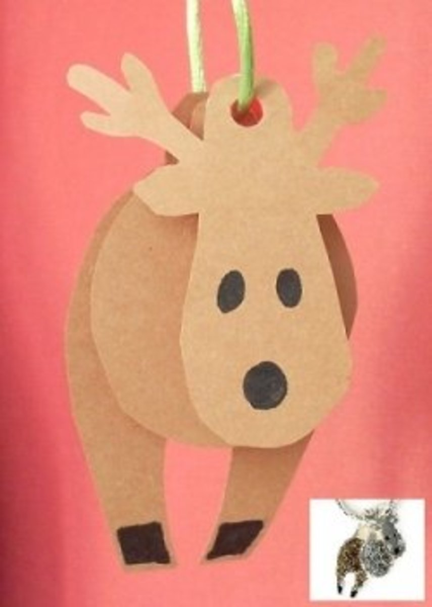 Paper christmas crafts for 3d christmas decoration templates