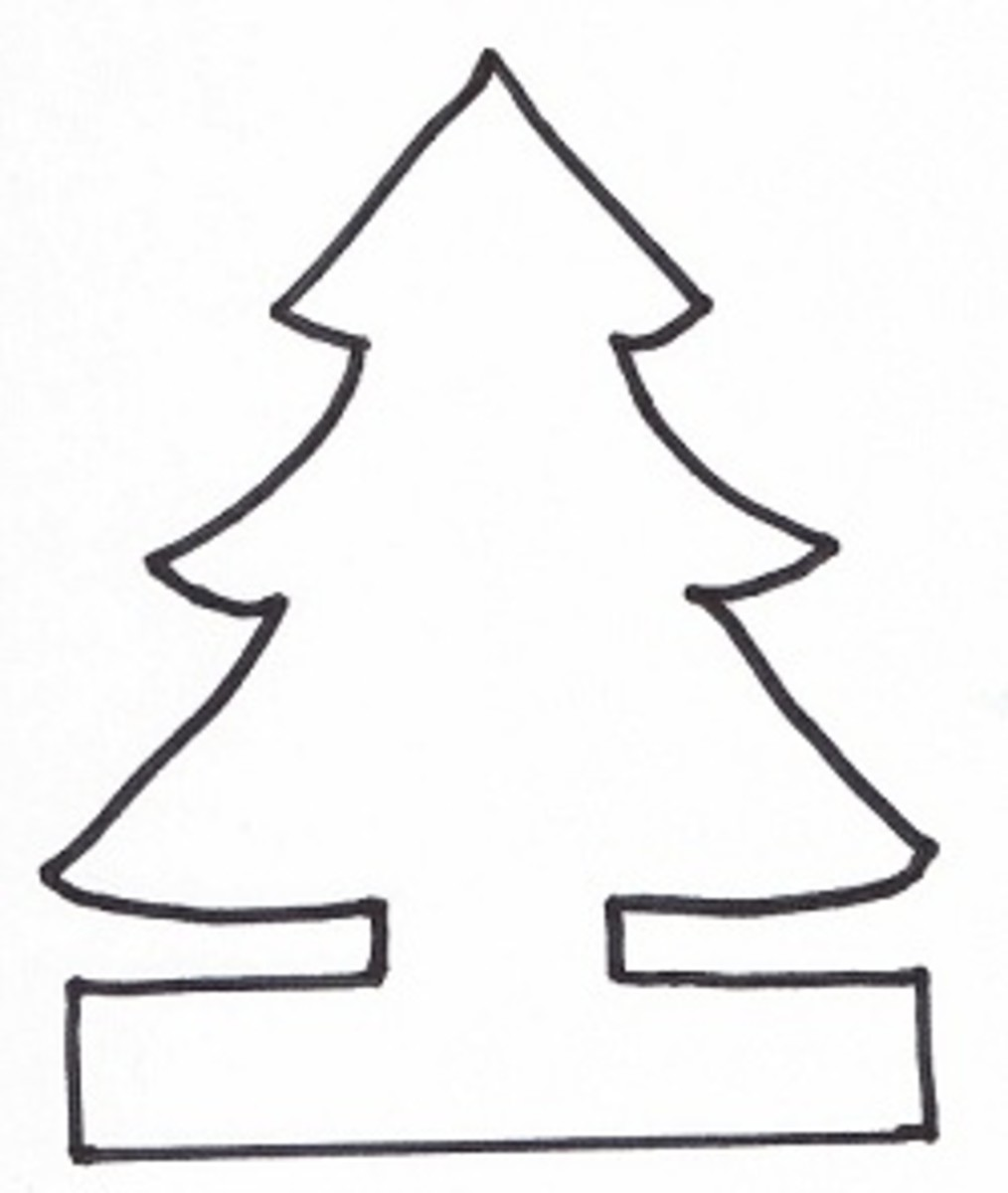 Christmas Tree Template for Paper Chain