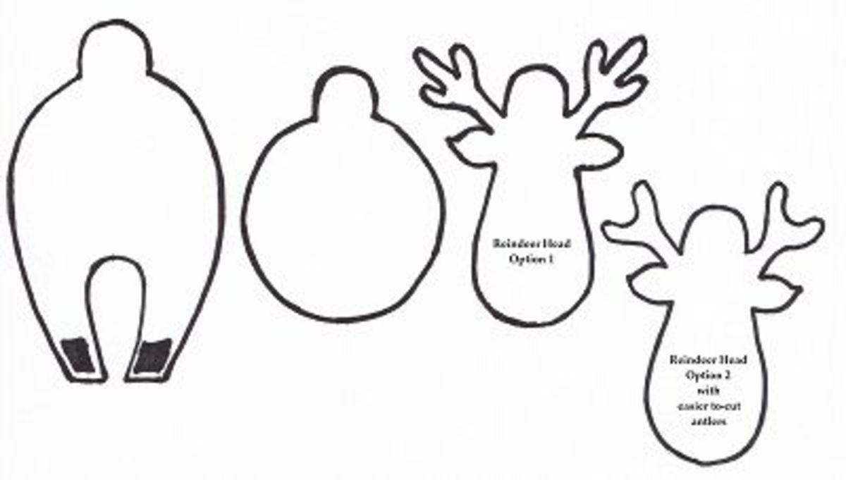 3D Reindeer Template Reindeer Head Template Printable