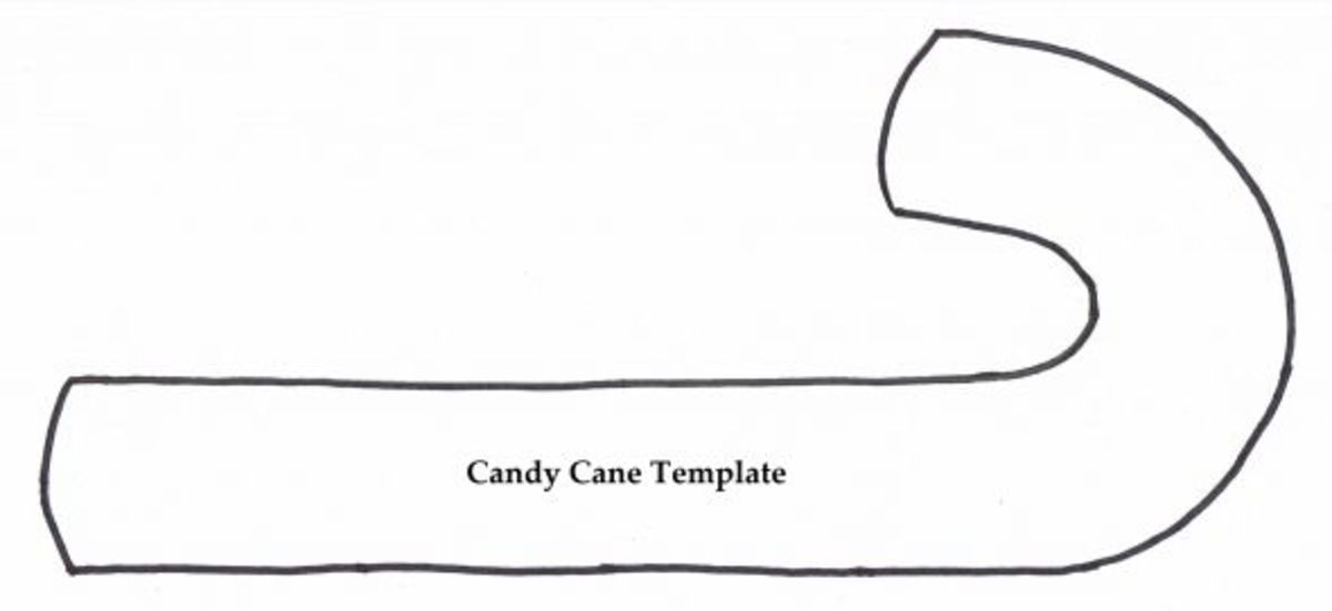 Candy Cane Template - Free to Copy and Share