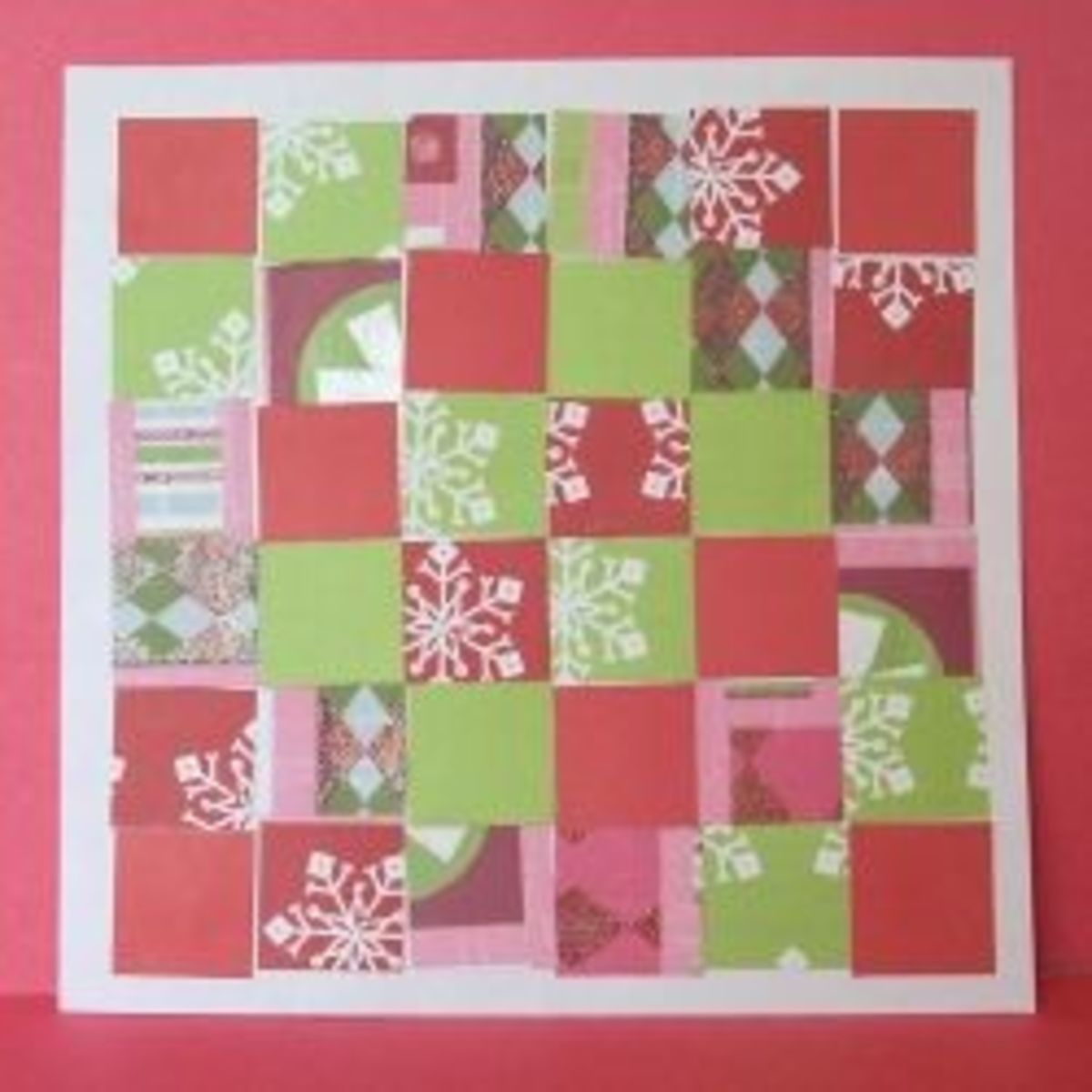 Christmas Paper Quilt Craft