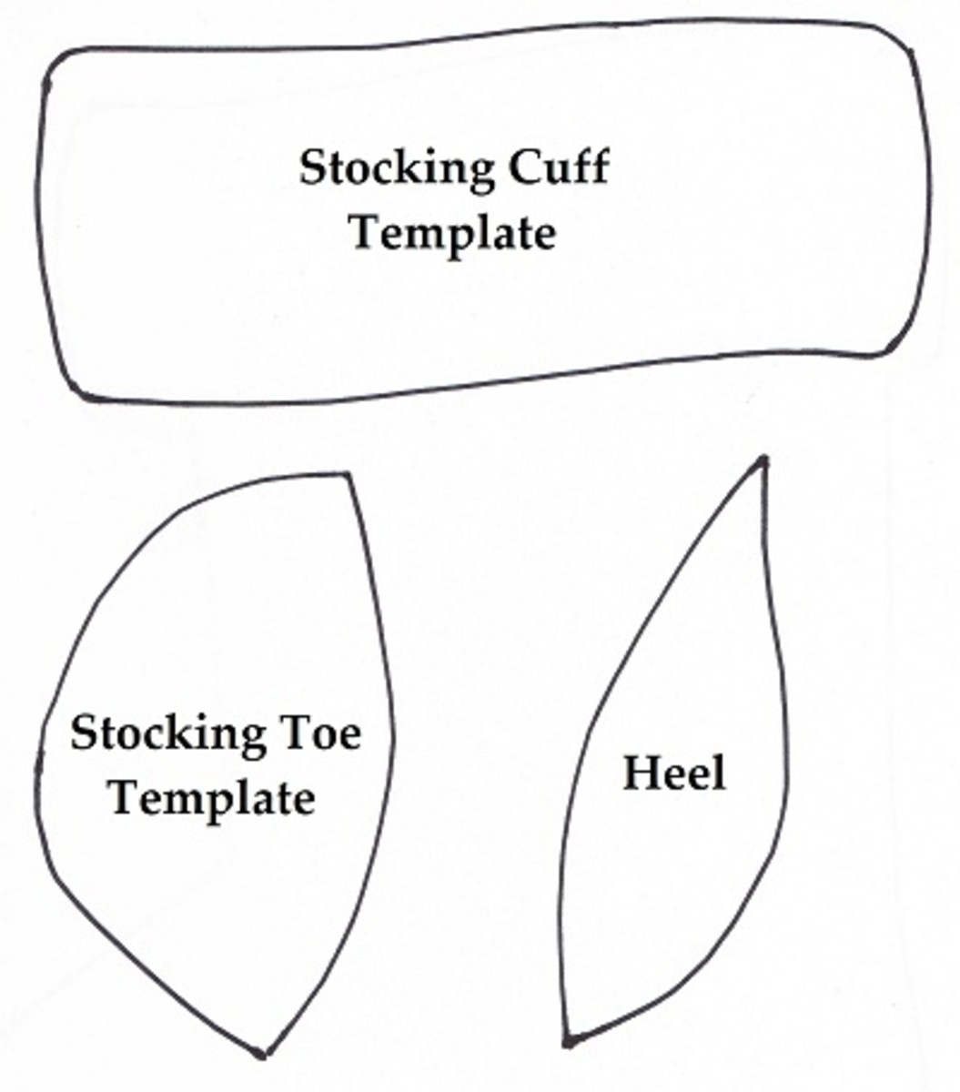 Stocking Cuff, Toe and Heel Template