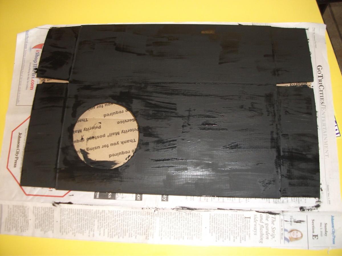 Paint the box black.