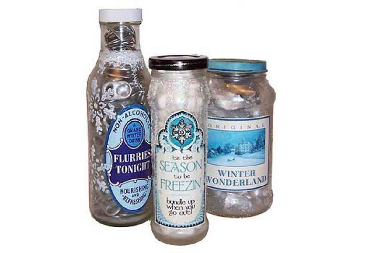 Frosted Winter Bottles