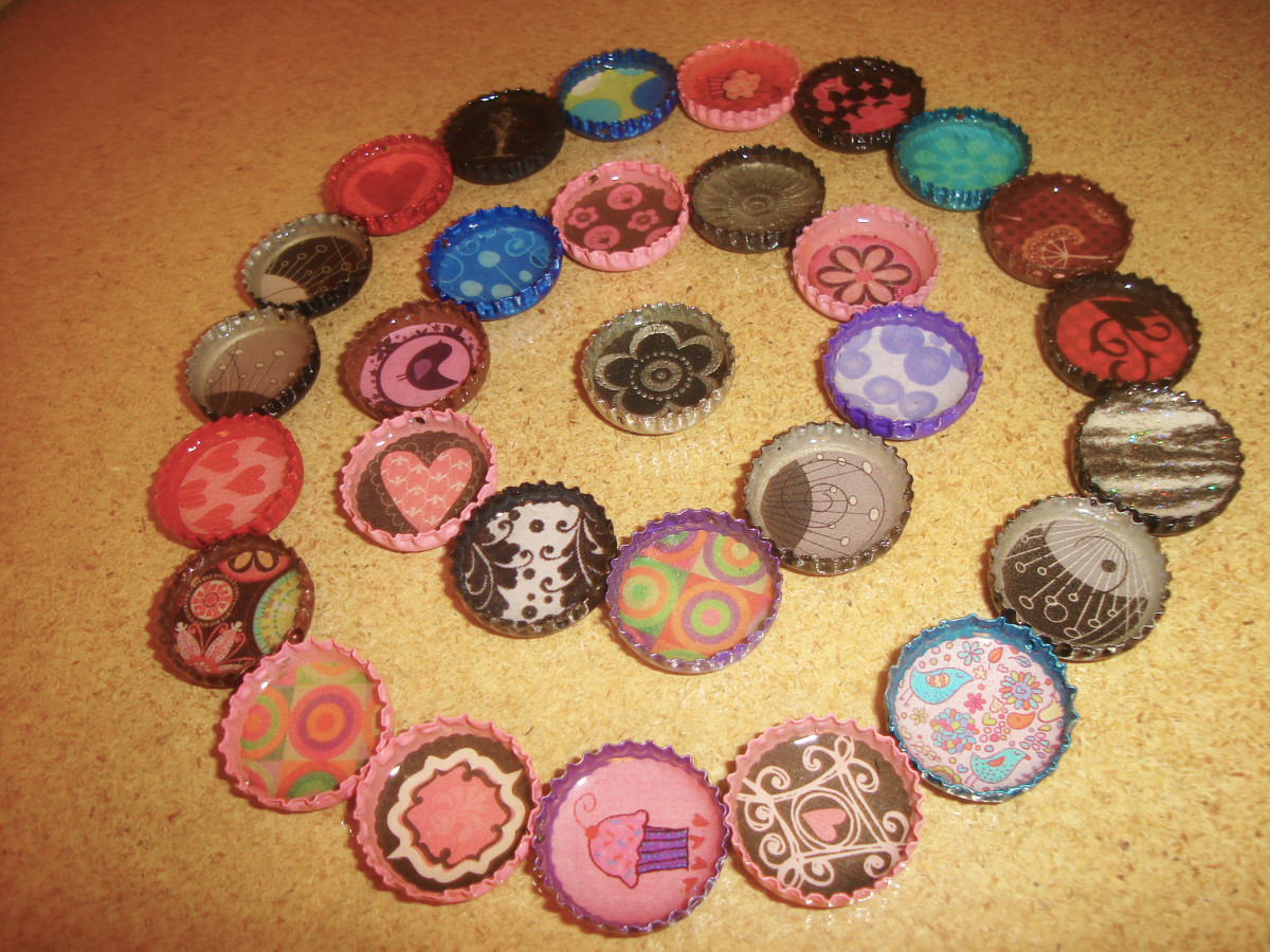 lots of bottle caps!