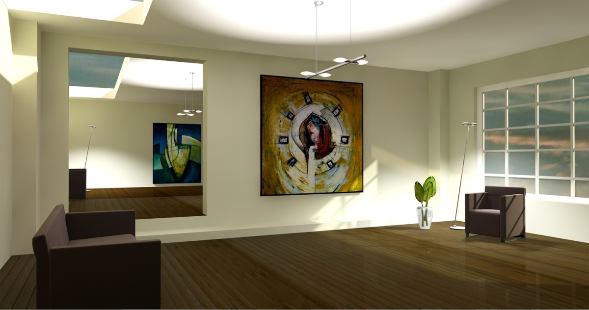 Example of using 3D modeling software for art