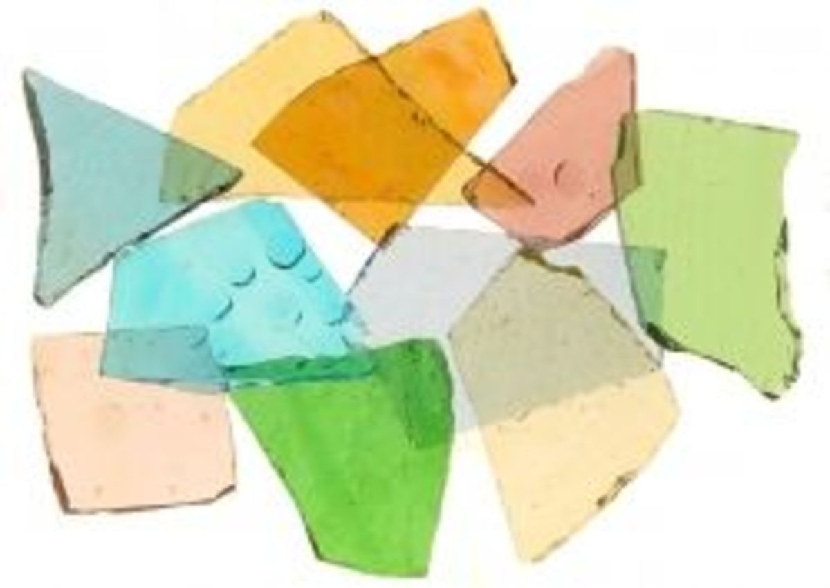 Stained Glass Cobbles Mixed Color Assortment