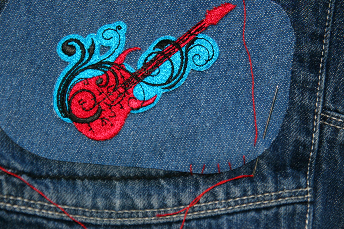 Optional: Whip-stitch around the jean patch.