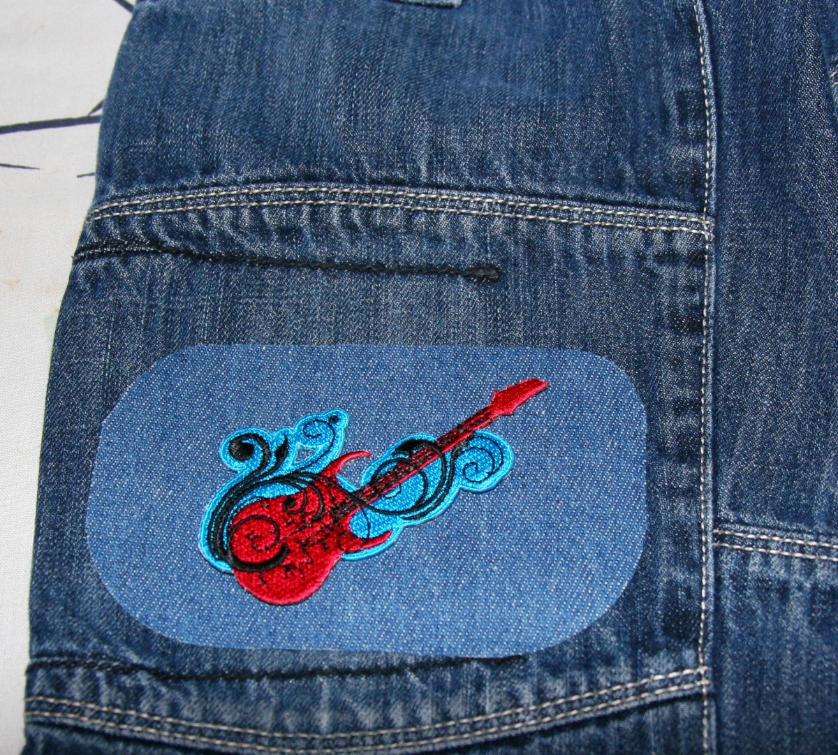 Adding an applique to the patch.