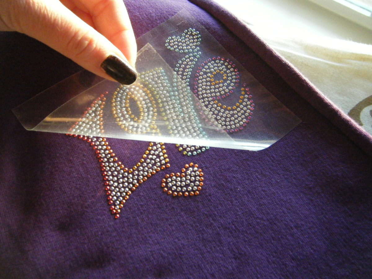 How To Iron And Glue Rhinestones To Your T Shirts And More Feltmagnet