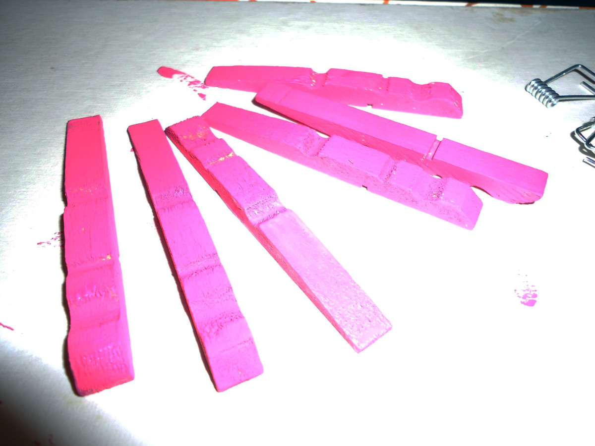 disassemble and paint clothespins