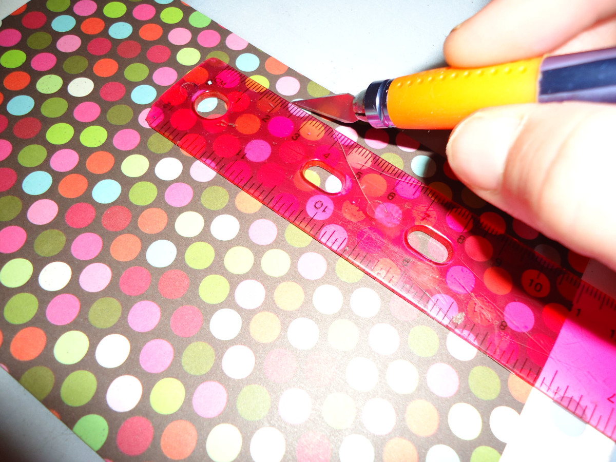 cut strip of paper for clothespin