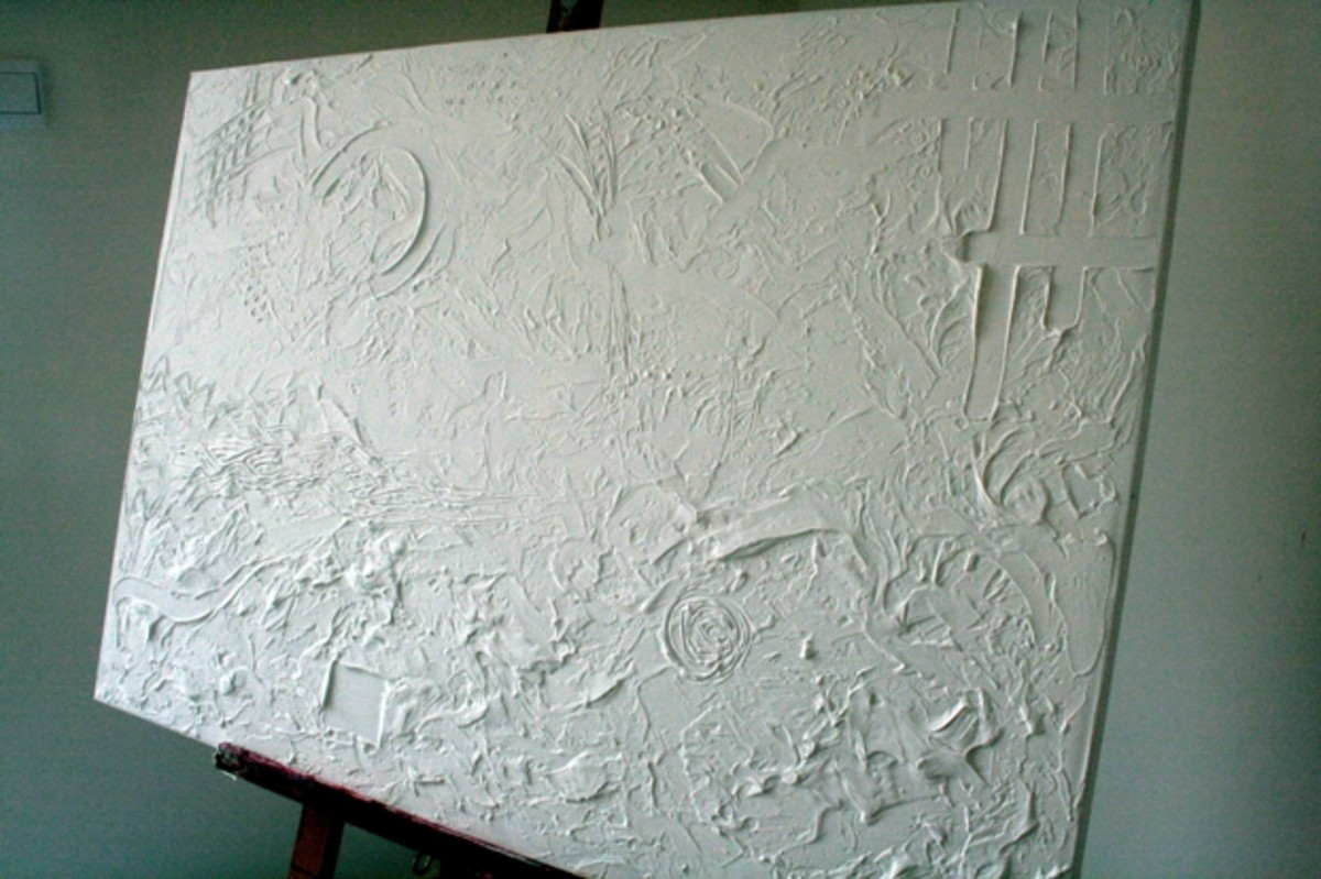 Step 1 - texture is applied to the canvas