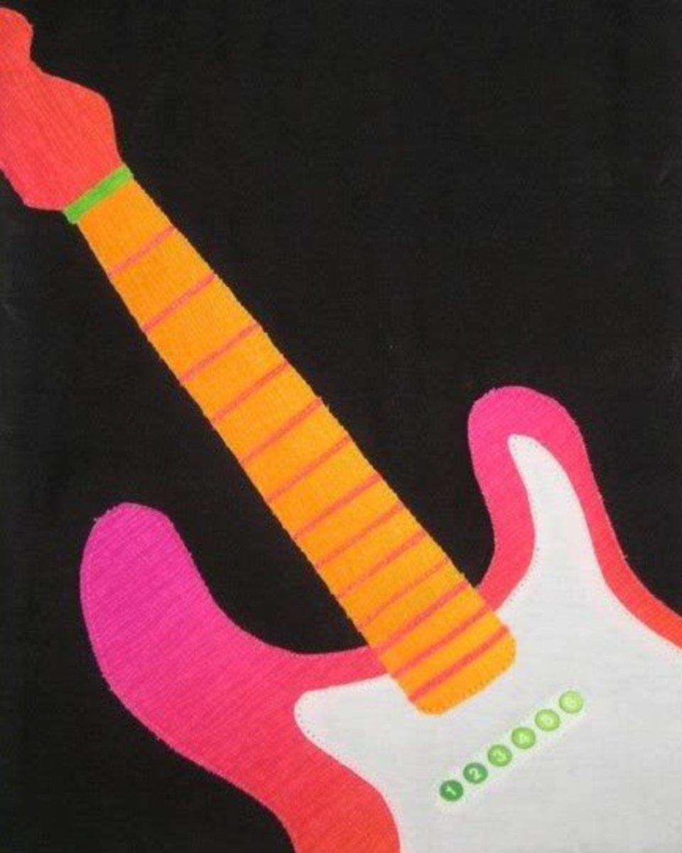 Fab Pink Guitar