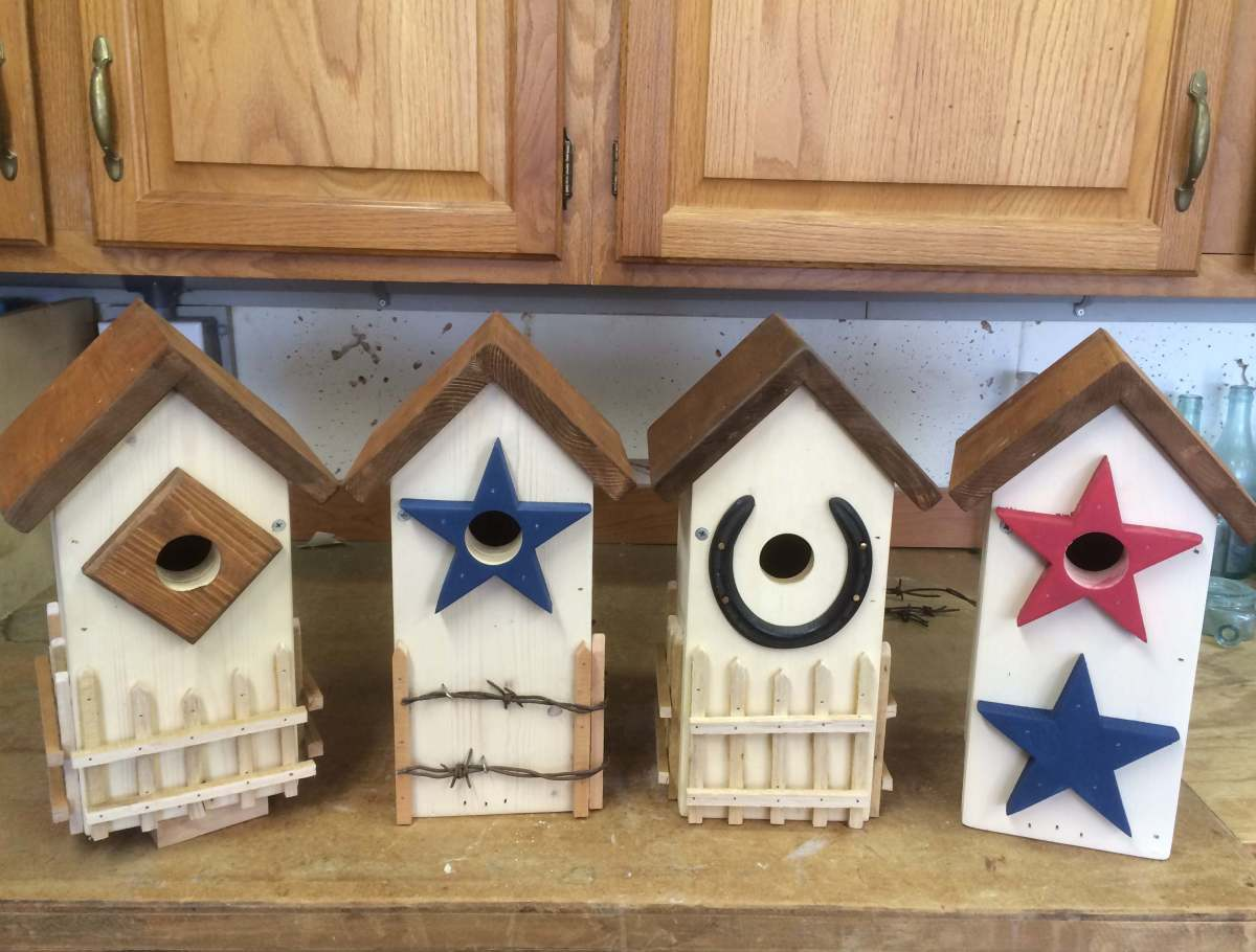 Peaked Roof Bluebird Houses