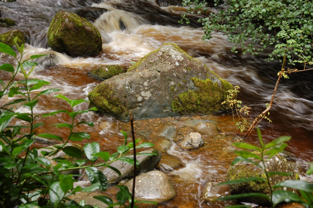 Slow shutter speed and moving water