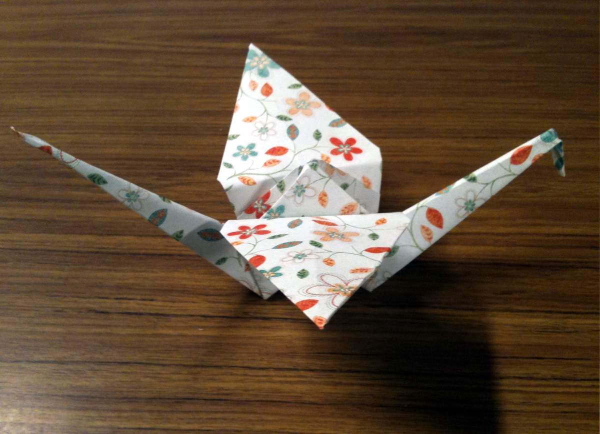 Your finished paper crane